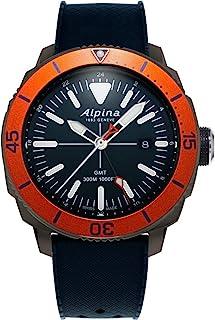 ساعت مچی غواصی کوارتز سوئیسی آلپینا Seastrong Diver تیتانیوم / استیل ضد زنگ با بند لاستیکی ، آبی ، 22 (مدل: AL-247LNO4TV6)