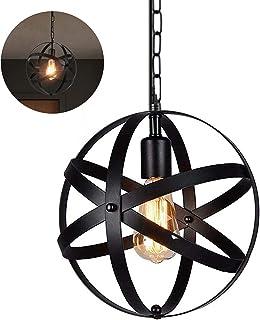 Retro abażur metal lampa sufitowa industrialny design klatka lampa sufitowa do jadalni, na strychu i do salonu (okablowan...