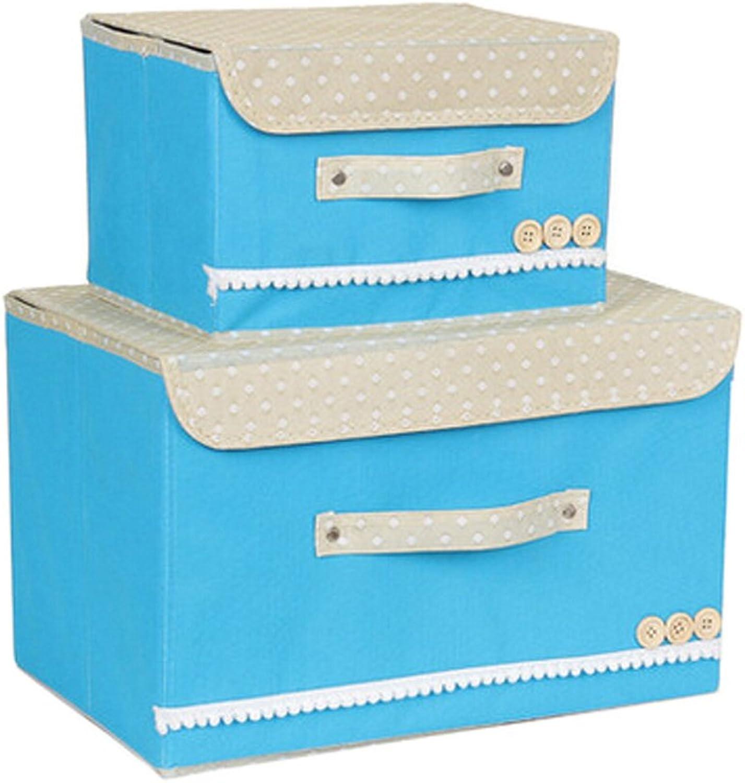 bluee Non-Woven Fabrics Foldable Storage Containers Home Organizer Bin