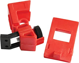 Lockout Safety Supply 7256 120/277V Clamp-On Breaker Lockout-Cleat, Red