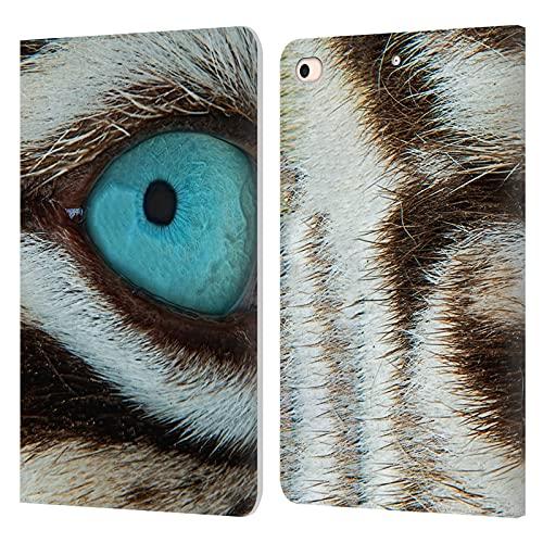 Head Case Designs Licenciado Oficialmente Catspaws White Tiger Beauty Animals 3 Carcasa de Cuero Tipo Libro Compatible con Apple iPad Mini (2019)