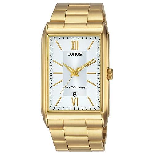 LORUS -LORUS QUARTZ GENTS GOLD PLATED BRACELET WATCH