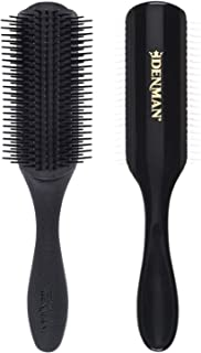 Denman Classic Styling Brush 9 Rows (Black) - D4 - Hair Brush for Blow-Drying & Styling – Detangling, Separating, Shaping & Defining Curls
