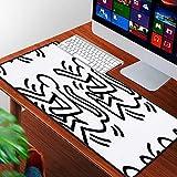 Luoquan Mouse Pad Gaming - Bordi cuciti - Base in Gomma Antiscivolo,Scimmia di Keith Haring,Adatto per Il Gioco,Computer Portatile e scrivania