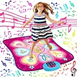 SUNLIN Dance Mat - Dance Mixer Rhythm Step Play Mat - Dance Game Toy Gift for Kids Girls Boys - Dance Pad with LED Lights, Adjustable Volume, Built-in Music, 3 Challenge Levels (35.4'X36.6')