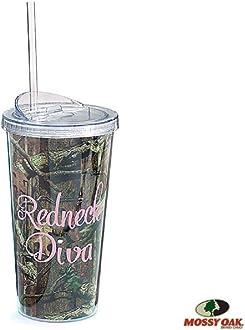 Drink Holder 8oz Mossy Oak Pink Camouflage Redneck Diva Flask