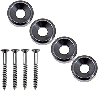 MonkeyJack 4Pcs Guitar Body Neck Fixed Mounting Screw Ferrules for Electric Bass Guitar Parts
