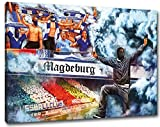 Ultras magdeburgCollage Format: 60x40, Bild auf Leinwand