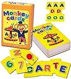 Q honey Flash Card Scimmia per Bimbi | Fino a 4 Carte con Ogni Lettera, 10 Numeri, 7 Colori Arcobaleno | Risorsa per l'Apprendimento dell'Alfabeto per Bambini | Imparare l'ABC Giocando (1. Italiano)