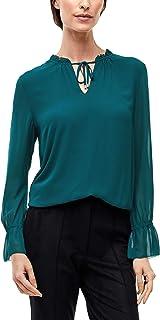 s.Oliver BLACK LABEL Damen Bluse aus feinem Chiffon
