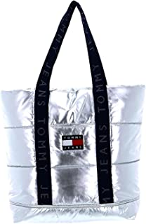 Tommy Hilfiger TJW Heritage Puffer Bag Silver