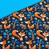 0,5x1,4m Jersey Füchse dunkelblau & 0,5x0,7m Bündchen Uni