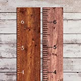 Divine Walls Vinyl Growth Chart Decal 6.5' Tall DIY Ruler Decal Kit Kids Height Ruler Measuring Tape Sticker (Matte White, 3.25in Wide x 6.5ft. Tall)