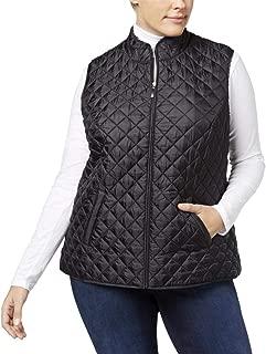 Karen Scott Plus Size Quilted Vest Smoke Grey Heather 2X