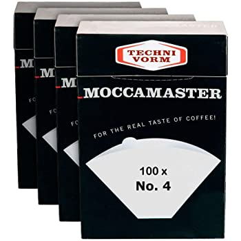 Technivorm Moccamaster 85022 Filtro N°4 in carta, bianco | Confezione 4 scatole x 100 filtri