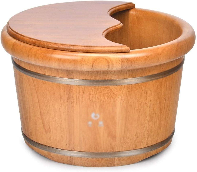 Kübel & Kellen Pediküre Gesundheit Eimer Bad Fubad Mit Deckel Massage SPA Eimer Sauna-Zubehr (Farbe   Beige, Größe   40  40  25cm)