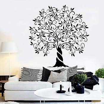 Nuevo estilo Árbol de la vida Vinilo Tatuajes de pared Naturaleza Jardín Decoración para el hogar Pegatinas de pared Arte Murales de pared Único árbol grande: Amazon.es: Bricolaje y herramientas
