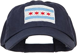 Chicago Flag Embroidered Low Cap