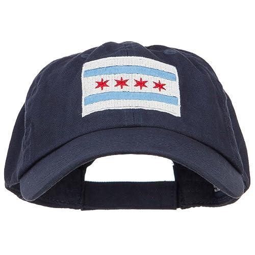 E4hats Chicago Flag Embroidered Low Cap 75862d44d9e