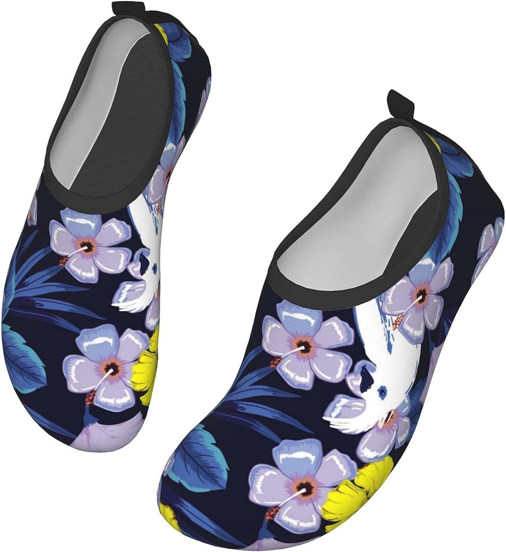 Forest Flower Parrot Men's Women's Water Shoes Barefoot Quick Dry Slip-on Aqua Socks for Yoga Beach Sports Swim surf