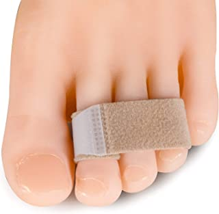 Welnove 10pcs Hammer Toe Splints Straightener Toe Strap Guard Breathable Ventilation Toe Wraps for Help Hammer Toe, Overlapping Toe