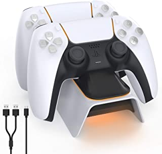 NexiGo Dobe Upgraded PS5 Controller Charger, Playstation 5 Charging Station with LED Indicator, High Speed, Fast Charging ...