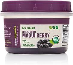 BareOrganics Maqui Berry Powder Freeze-Dried   Superfood Powder   Keto & Paleo   Organic, Vegan, Non-GMO, 4oz