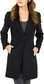long black fitted blazer
