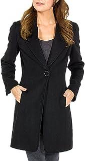 Stella Womens Wool Single Button 7/8 Length Overcoat