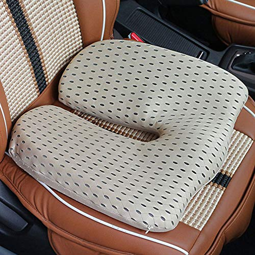 TBBA Car Seat Cushion Heightening Height Car Seat Pad, Ortable Breathable Mesh Car Seat Cushions for Adults Height Boost 7Cm,C