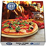 Pizza Stone for Best Crispy Crust Pizza, The Only Stoneware with Thermarite (Engineered Tuff...