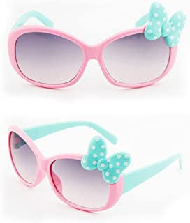 Opfury - Opfury 2 Piezas Gafas, Gafas De Sol con Lazo para Niños, Gafas De Sol Polarizadas De Goma, UV400 Protección 100 contra Rayos Ultravioleta, para Niñas De 3 A 10 Años Niña Niño