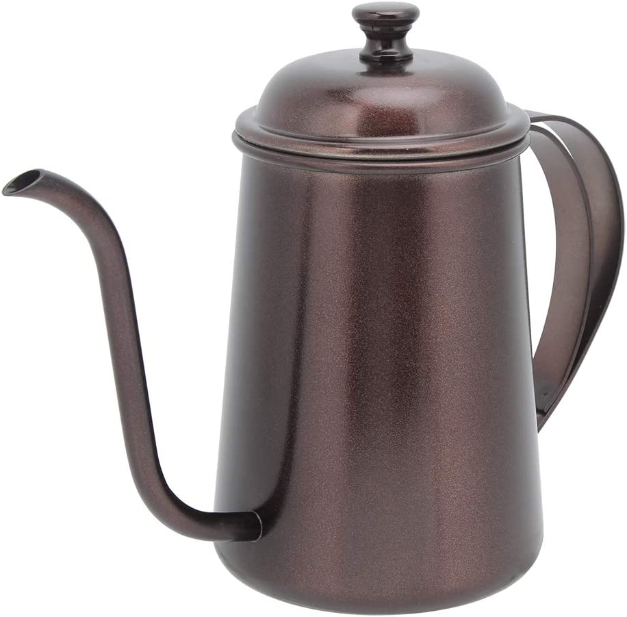 Nippon regular agency Coffee Pot-650ml Household Opening large release sale Portable Stainless Steel H Long Mouth