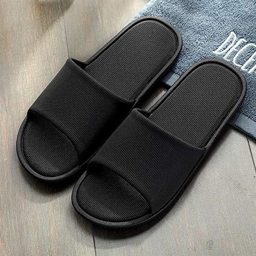 MQQM Suela de Espuma Suave Zapatos para Piscinas,Zapatillas de baño Antideslizantes para el baño, Sandalias Interiores de Verano-Black_36-37,Antideslizantes Sandalias Chanclas