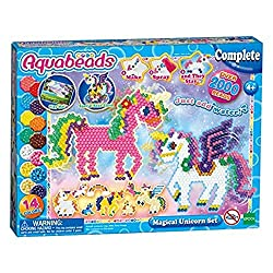 This set includes over 2000 beads in 14 colours No ironing required Just spray water and the beads will stick together Helps to develop hand-eye coordination and memory skills