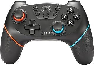 【日本品質】Switch コントローラー 無線Bluetooth HD振動 6軸ジャイロセンサー搭載 スイッチコントローラー TURBO連射機能付き Nintendo用スイッチコントローラーすべてのシステムに対応 (ブルー&レッド)