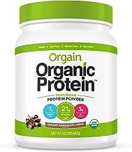 Orgain Organic Plant Based Protein Powder, Creamy Chocolate Fudge - Vegan, Low Net Carbs, Non Dairy, Gluten Free, Lactose ...