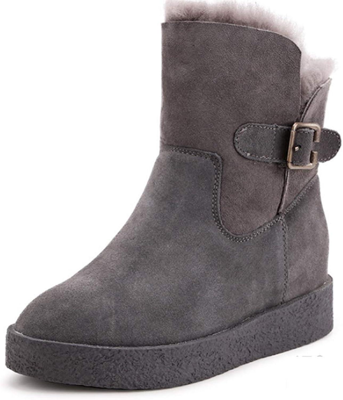 Shiney Frauen Schnee Stiefel Pelz EIN Winter Rutschfeste Stiefel 2018 Plus Samt Gepolsterte Baumwolle Wolle Schuhe