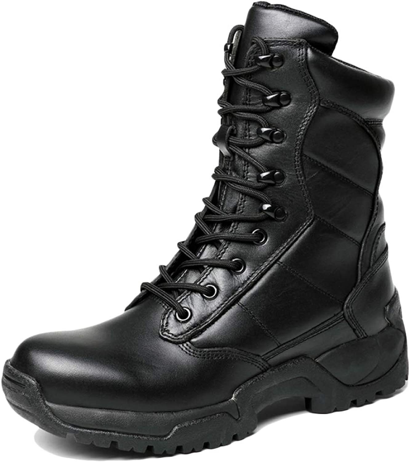 Men's High Top Snow Boots Casual Leather Comfy Waterproof shoes Warm Fur Lined Non Slip Hiking Waterproof Footwear Size:38-44