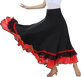 Flamenco Ballroom Waltz Competition Dance Circular Skirt Wear?Clothing