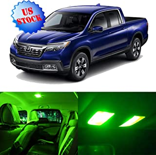 SCITOO Interior LED Lights Green Replacement for 2017-2019 Honda Ridgeline Accessories Package Kit 12Pcs