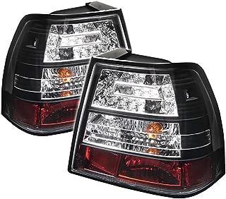 VIPMOTOZ Black Bezel LED Tail Light Housing Lamp For 1999-2005 Volkswagen VW Jetta Sedan Driver + Passenger Side Replacement Pair