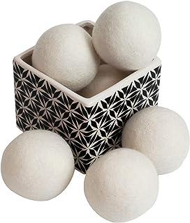Wool Dryer Balls by SnugPad XL Size 6 Pack, Organic Premium Reusable Natural Fabric Softener, Premium New Zealand Wool, Re...
