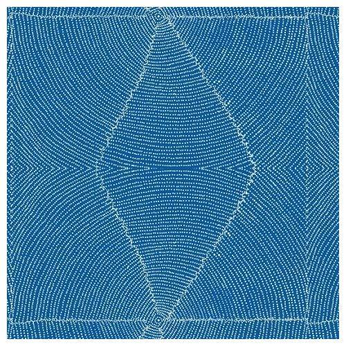 Plum Seeds Blue- Australian Aboriginal Cotton Fabric - M & S Textiles