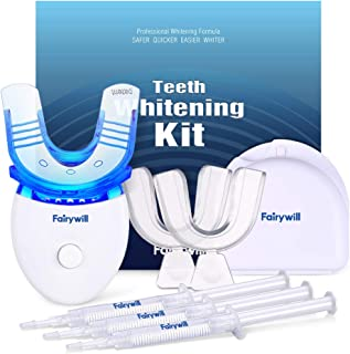Fairywill Teeth Whitening Kit with Led Light for Sensitive Teeth,Teeth Whitening Kit, 35% Carbamide Peroxide 3ml(3) Gel wi...