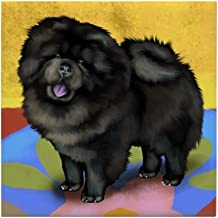 CafePress - Chow Chow Dog Black Tile Coaster - Tile Coaster, Drink Coaster, Small Trivet