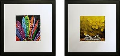 SAF Set of 2 Textured Print with Uv Framed Reprint Painting (SANFO802, 30 x 2 x 30 cms) SANFO802