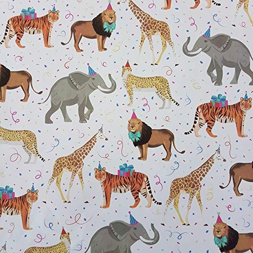 Geschenkpapier Kinder 70cm x 2m Rolle Wildtiere