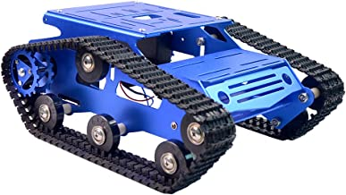 Robot Smart Car Chassis Kit Full Aluminum Alloy Tank Mobile Platform with 2WD Motors for Arduino/Raspberry Pi Robot Projec...