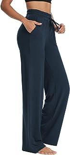 Sarin Mathews Womens Yoga Sweatpants Wide Leg Lounge Pajamas Pants Comfy Drawstring Workout Joggers Pants with Pockets